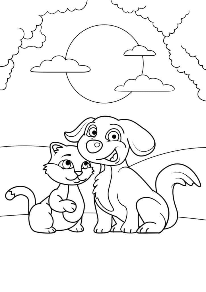 Omaľovánka - mačka - 10