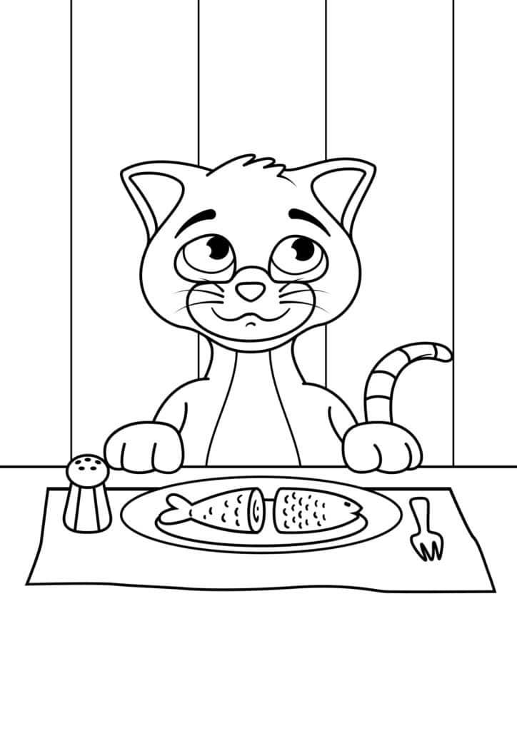 Omaľovánka - mačka - 12