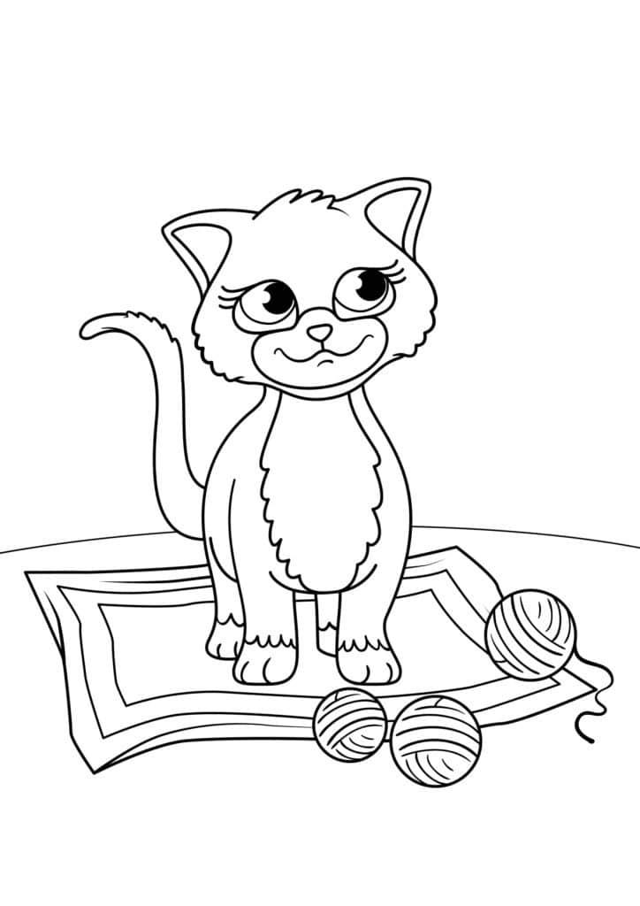 Omaľovánka - mačka - 18