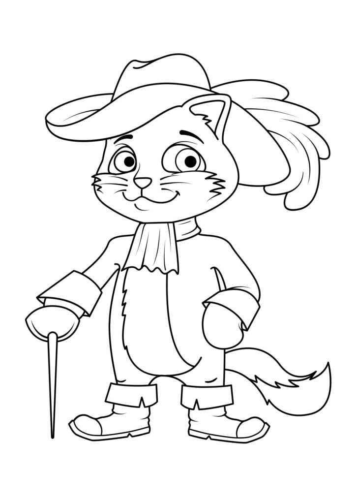 Omaľovánka - mačka - 19