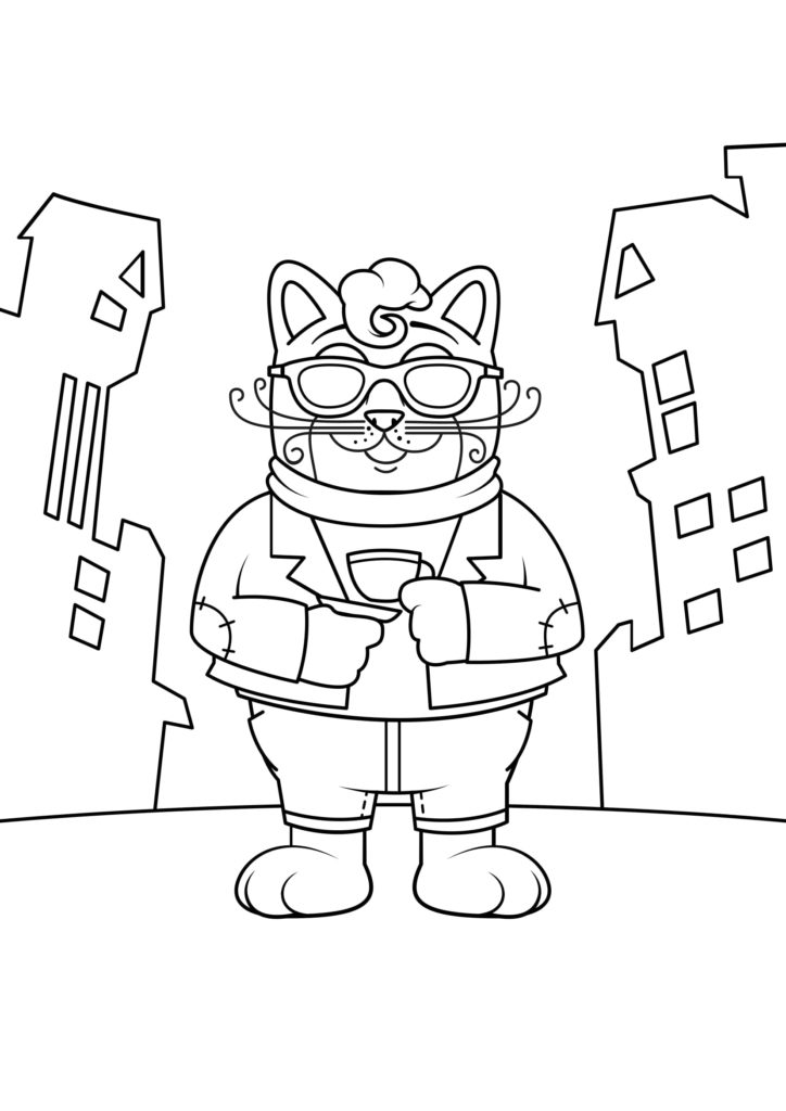 Omaľovánka - mačka - 20