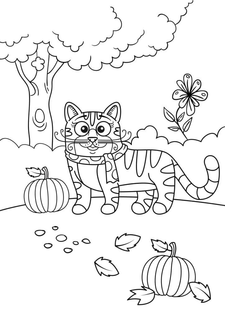 Omaľovánka - mačka - 22