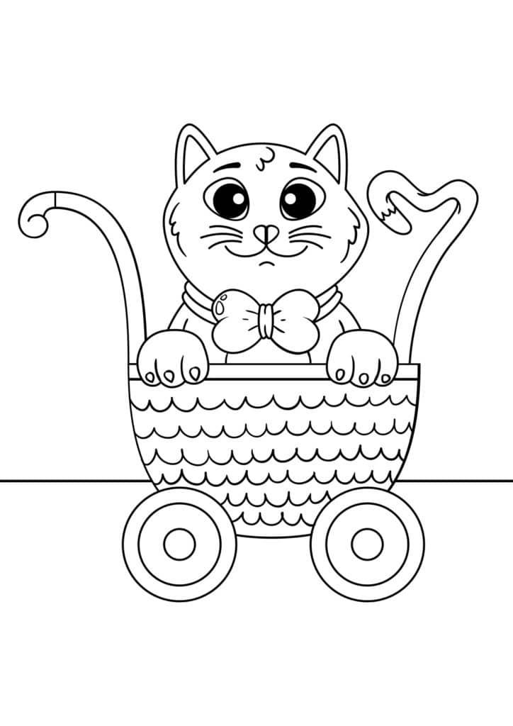 Omaľovánka - mačka - 24