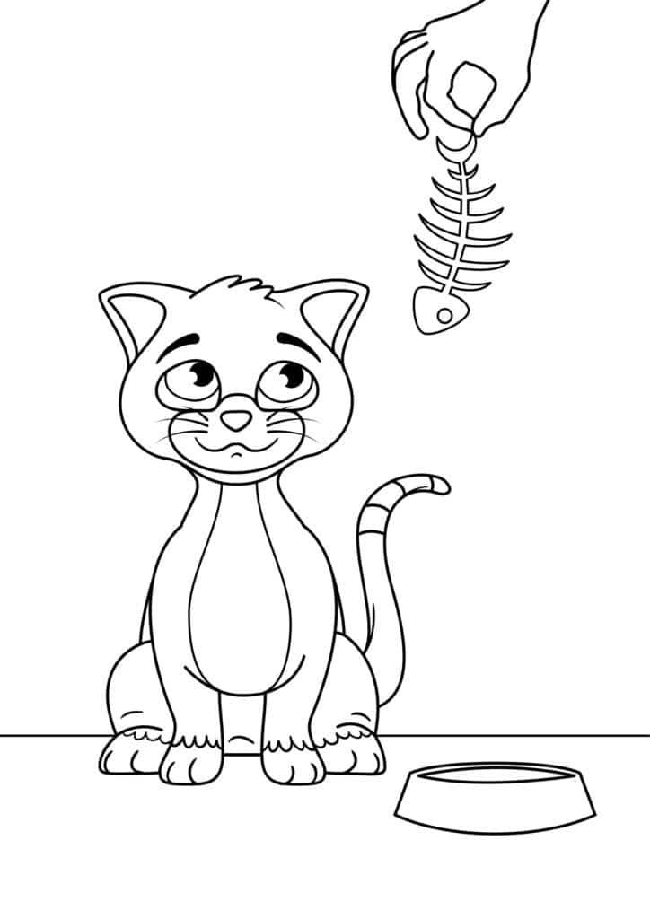 Omaľovánka - mačka - 5