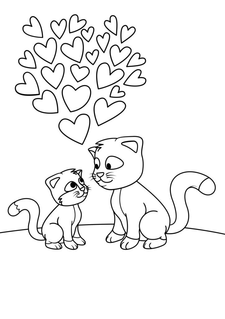 Omaľovánka - mačka - 9