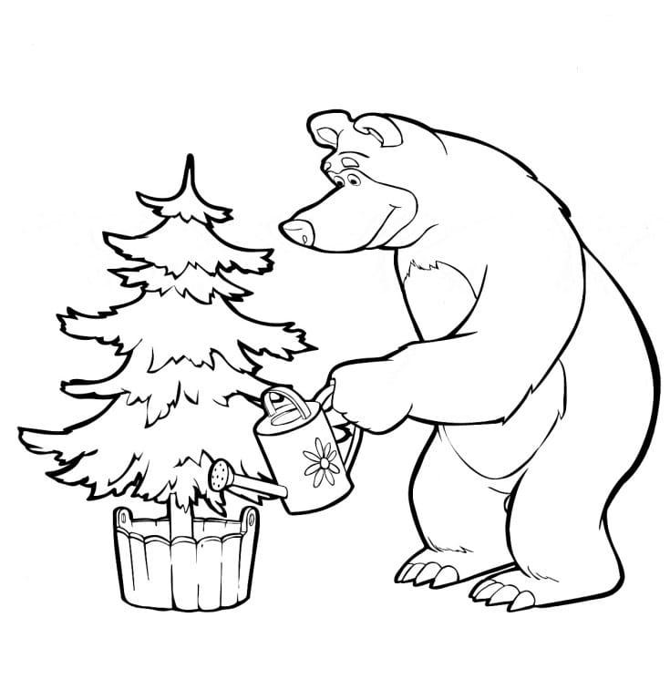 Omaľovánka - Máša a medveď - 13