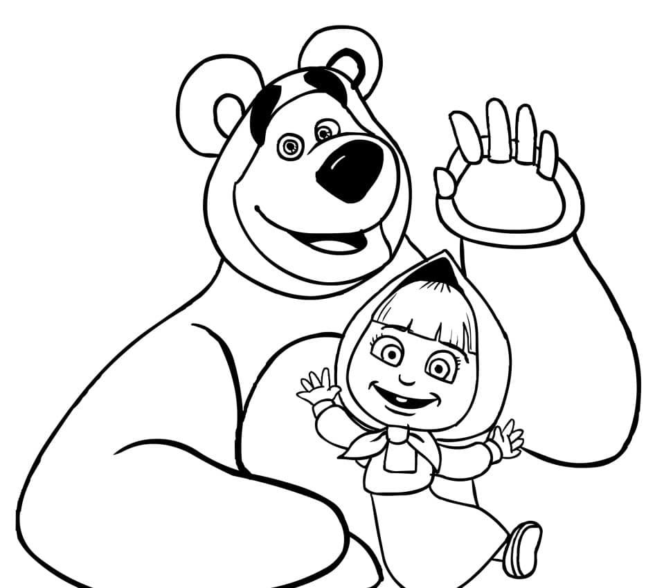 Omaľovánka - Máša a medveď - 18