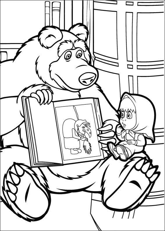 Omaľovánka - Máša a medveď - 20