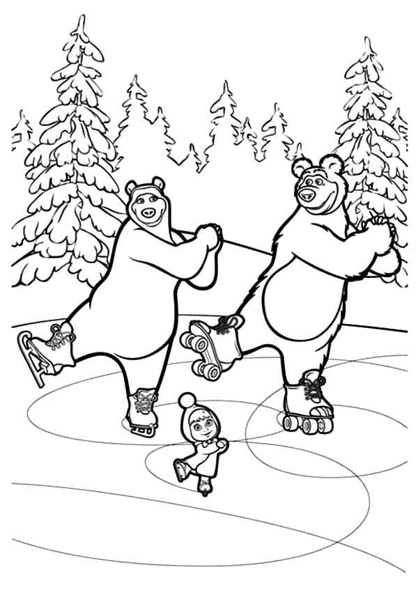 Omaľovánka - Máša a medveď - 8