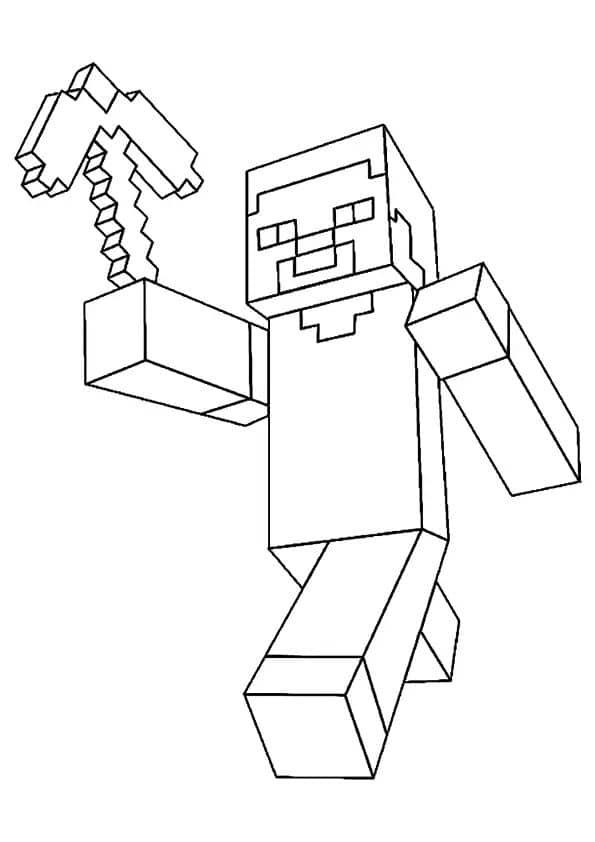 Omaľovánka - Minecraft