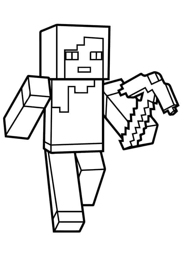 Omaľovánka - Minecraft - 2
