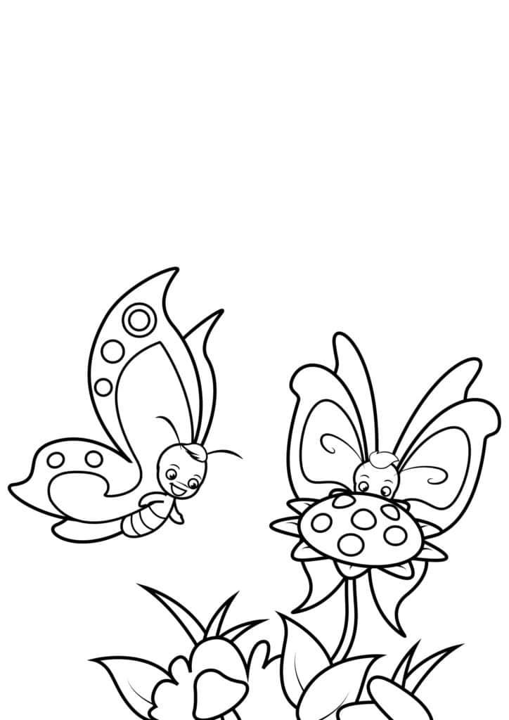 Omaľovánka - Motýľ - 10