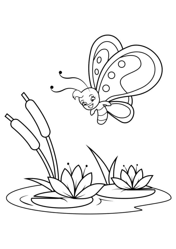 Omaľovánka - Motýľ - 11