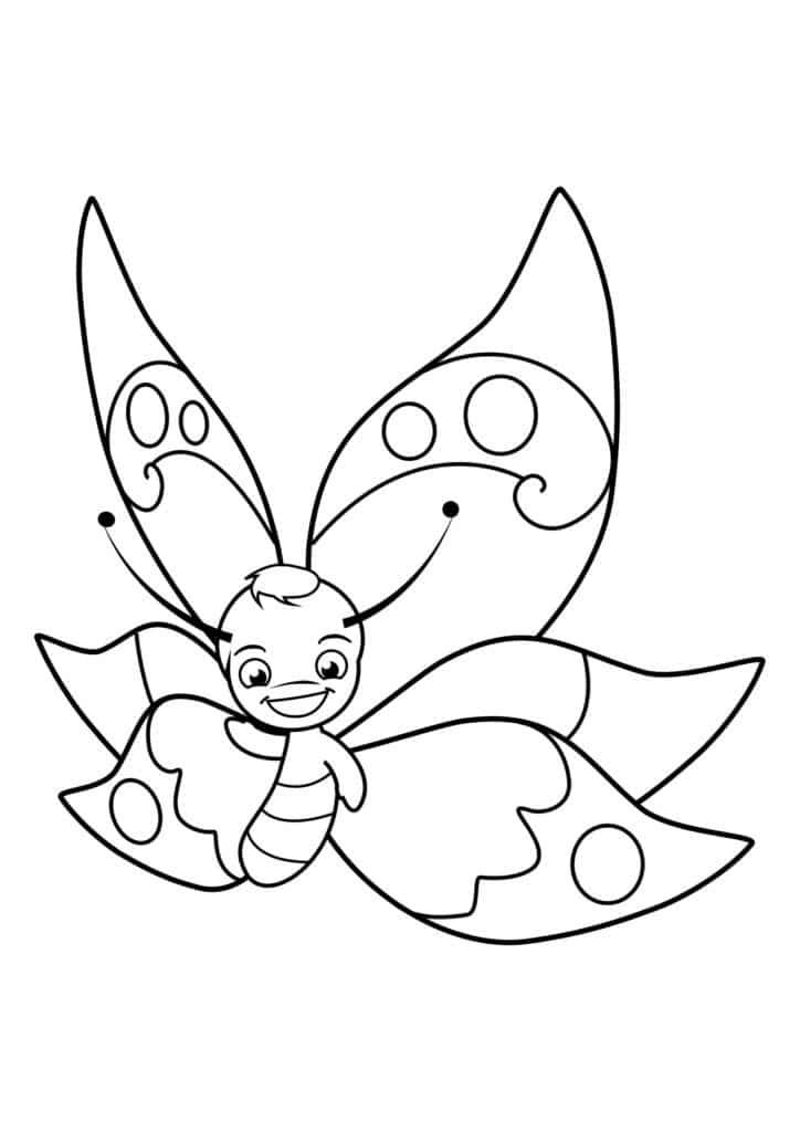 Omaľovánka - Motýľ - 15