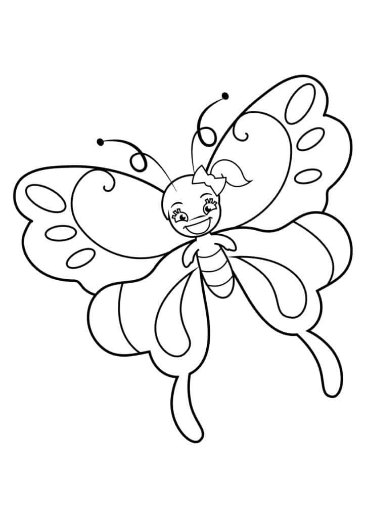 Omaľovánka - Motýľ - 16