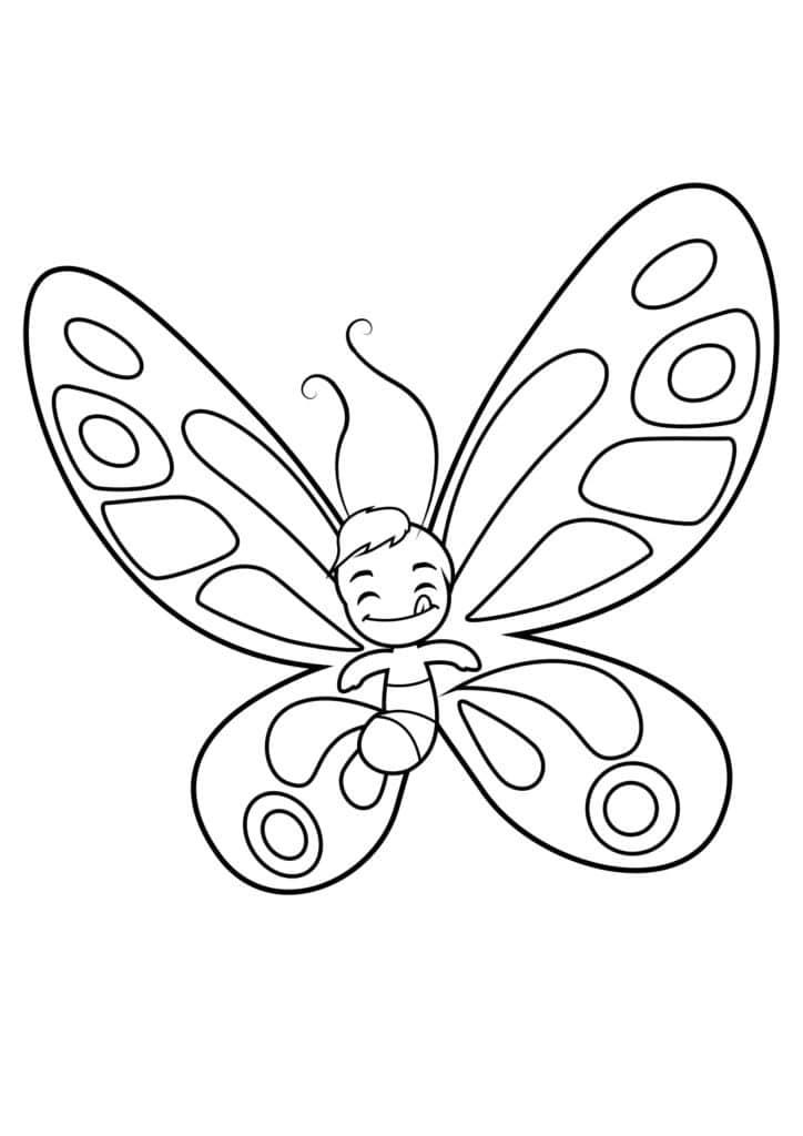 Omaľovánka - Motýľ - 18