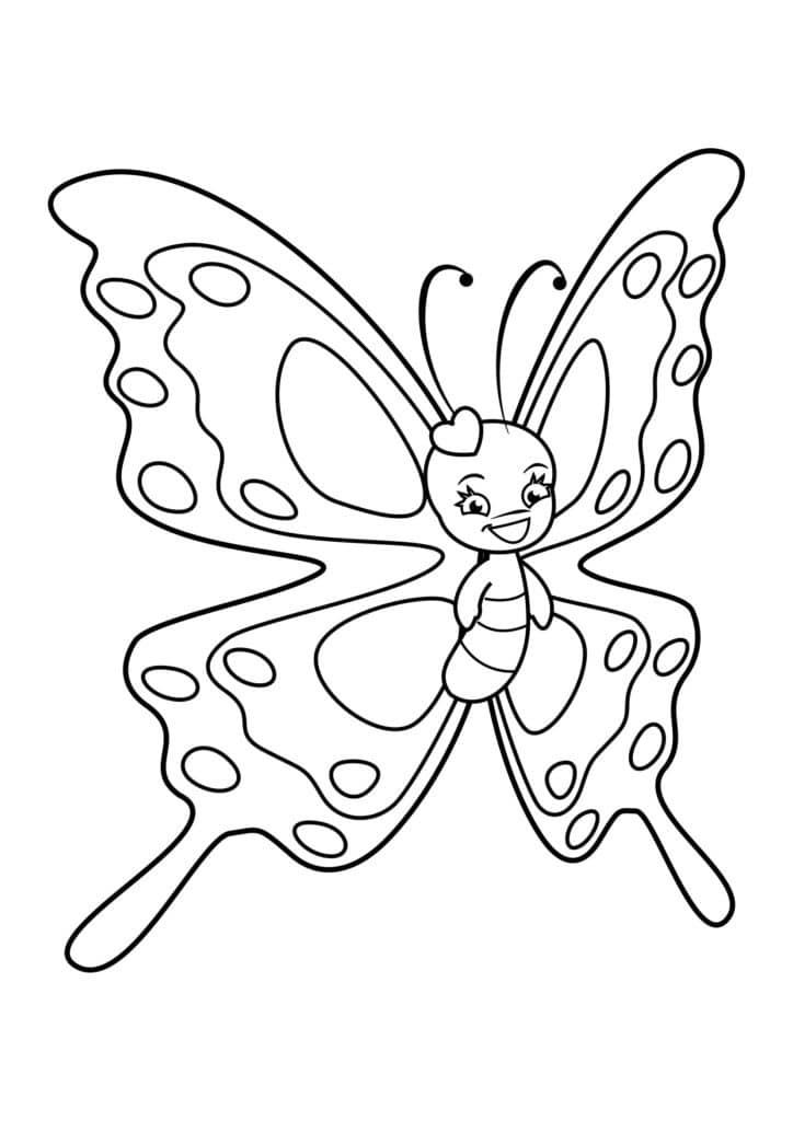 Omaľovánka - Motýľ - 20