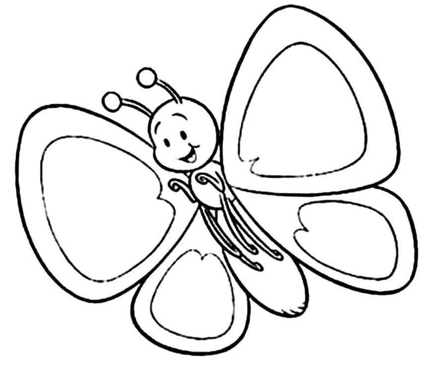 Omaľovánka - Motýľ - 21