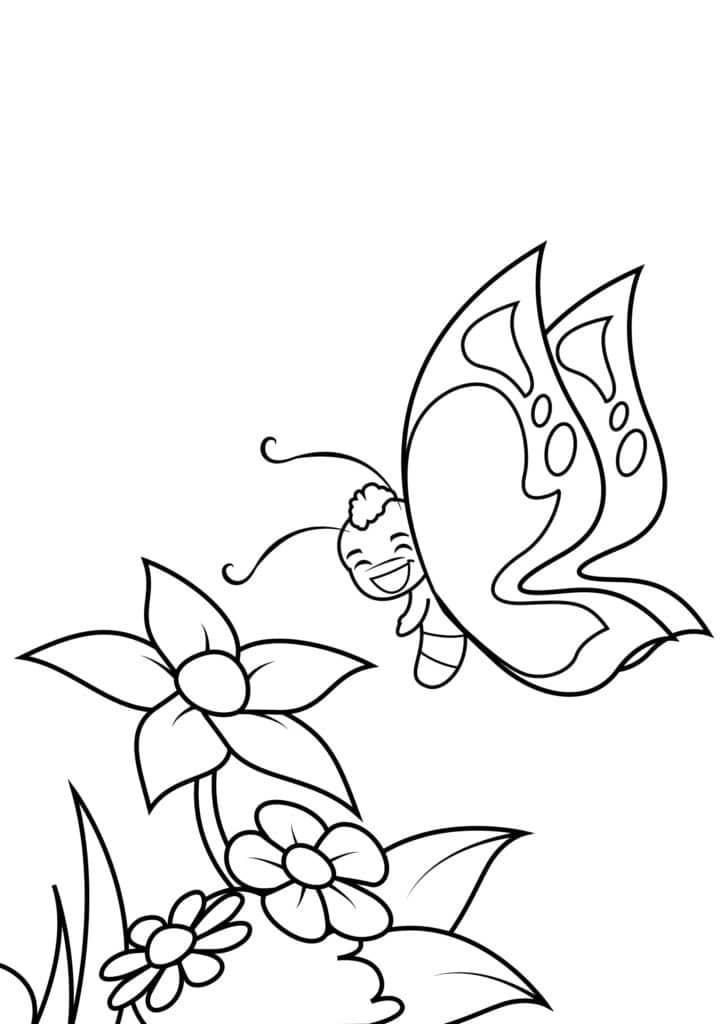 Omaľovánka - Motýľ - 3