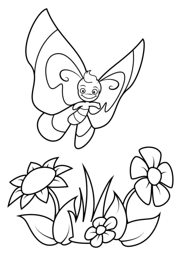 Omaľovánka - Motýľ - 6