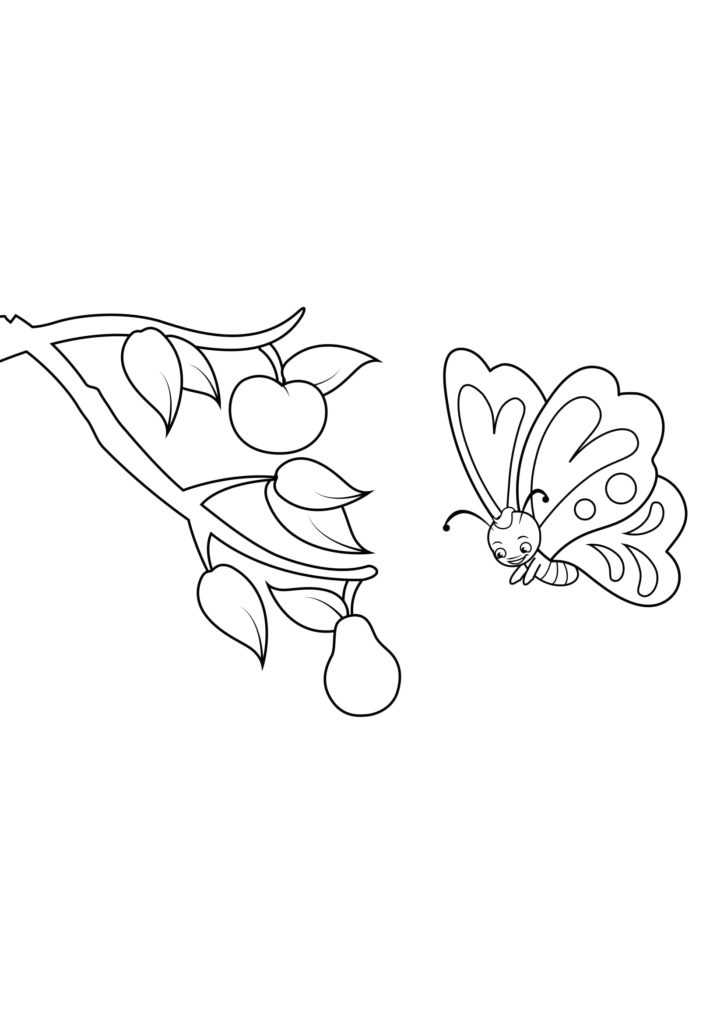 Omaľovánka - Motýľ - 7