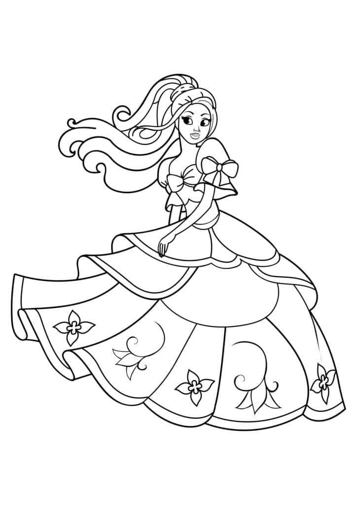 Omaľovánka - Princezná - 1