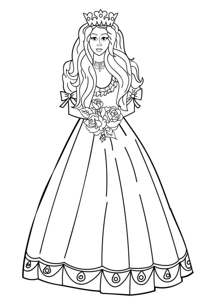 Omaľovánka - Princezná - 10