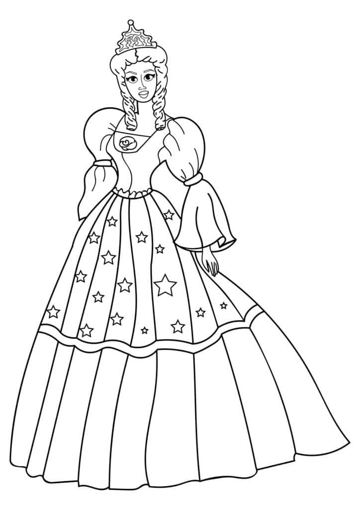 Omaľovánka - Princezná - 11
