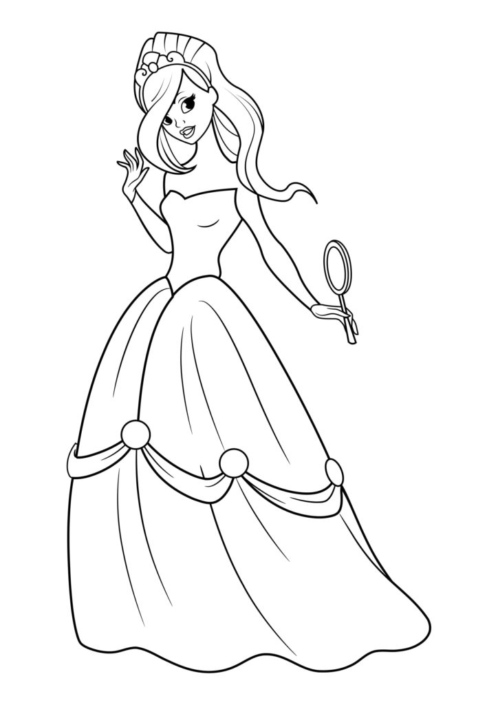 Omaľovánka - Princezná - 14