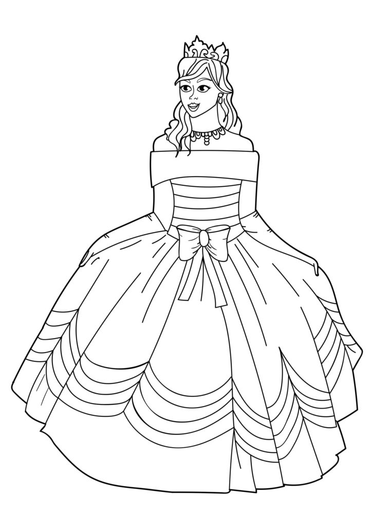 Omaľovánka - Princezná - 17