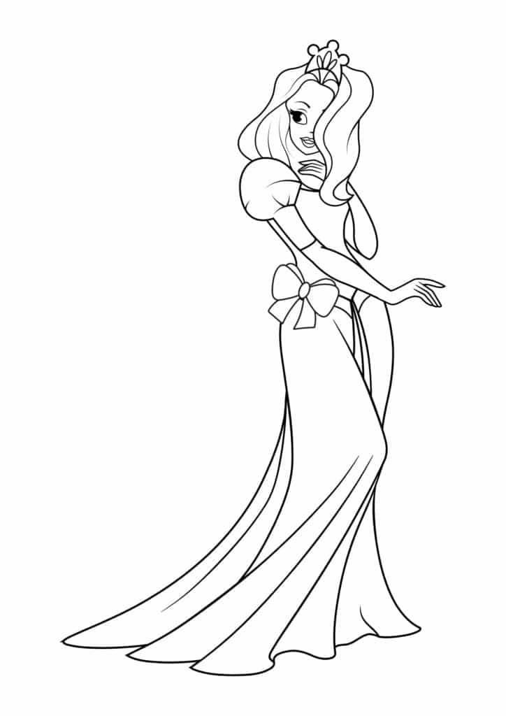 Omaľovánka - Princezná - 2