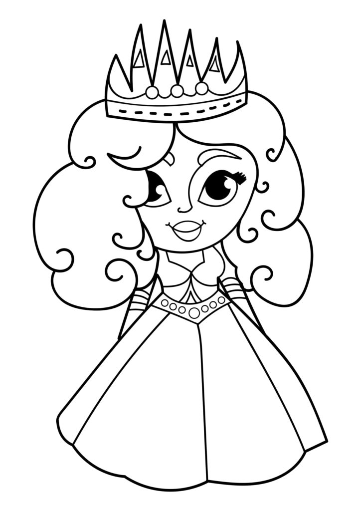 Omaľovánka - Princezná - 20