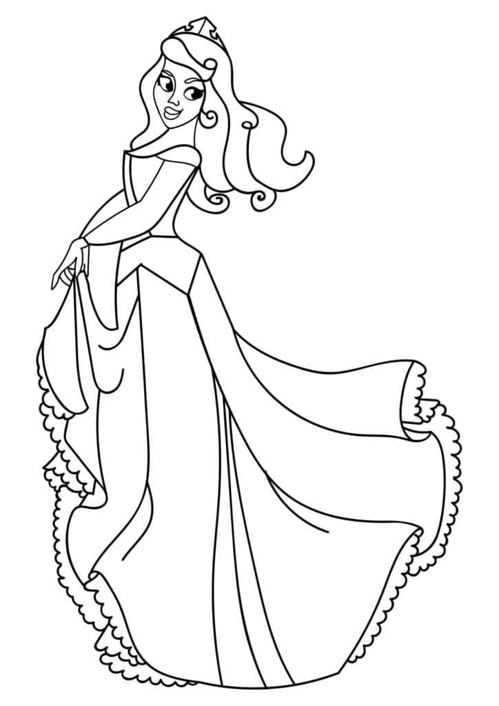 Omaľovánka - Princezná - 21