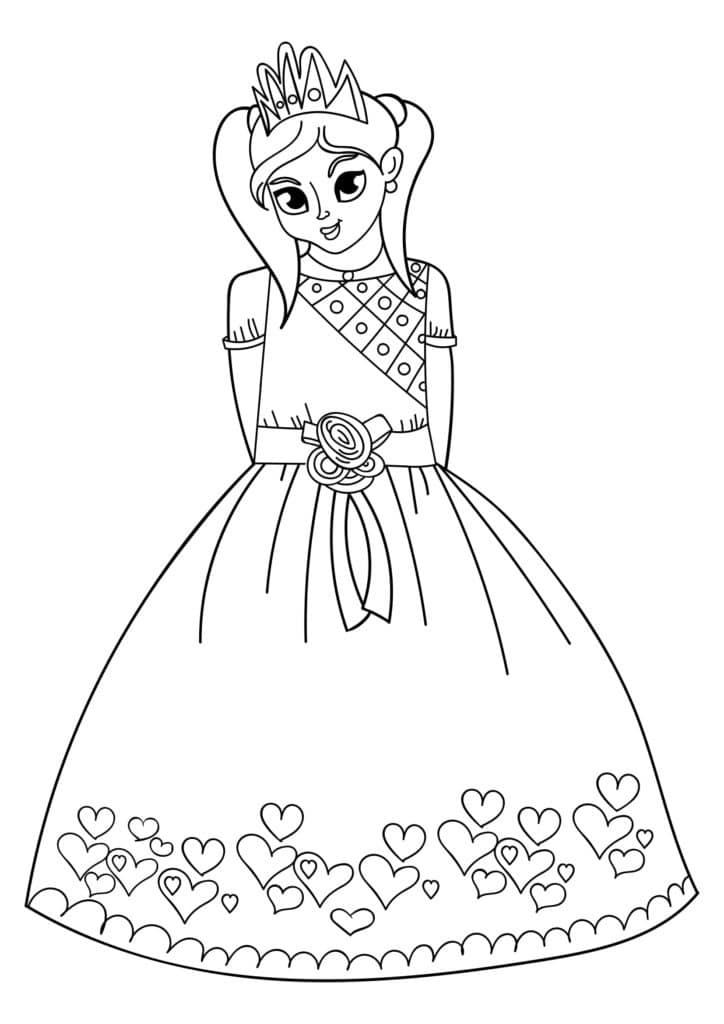 Omaľovánka - Princezná - 22
