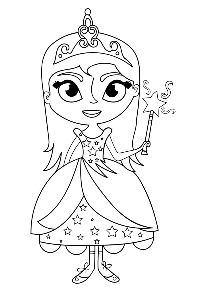 Omaľovánka - Princezná - 24