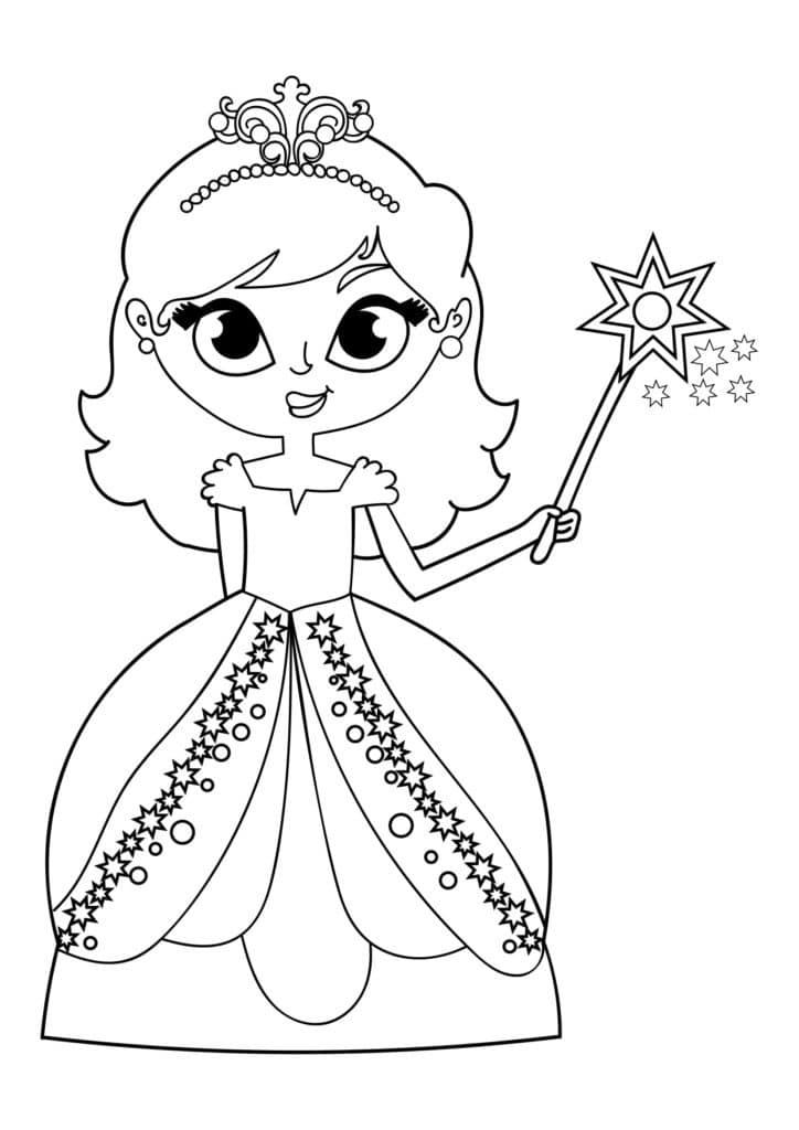 Omaľovánka - Princezná - 25