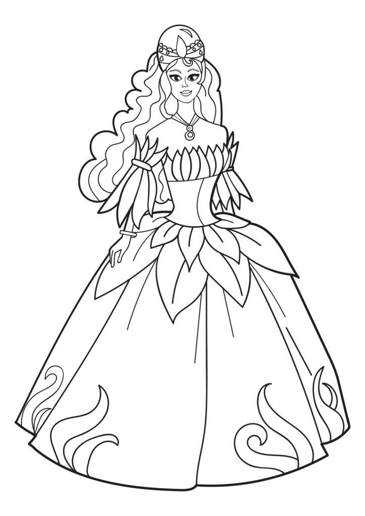 Omaľovánka - Princezná - 4