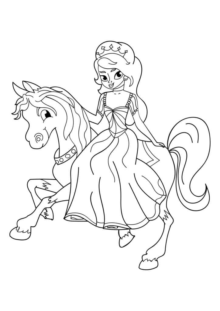 Omaľovánka - Princezná - 5