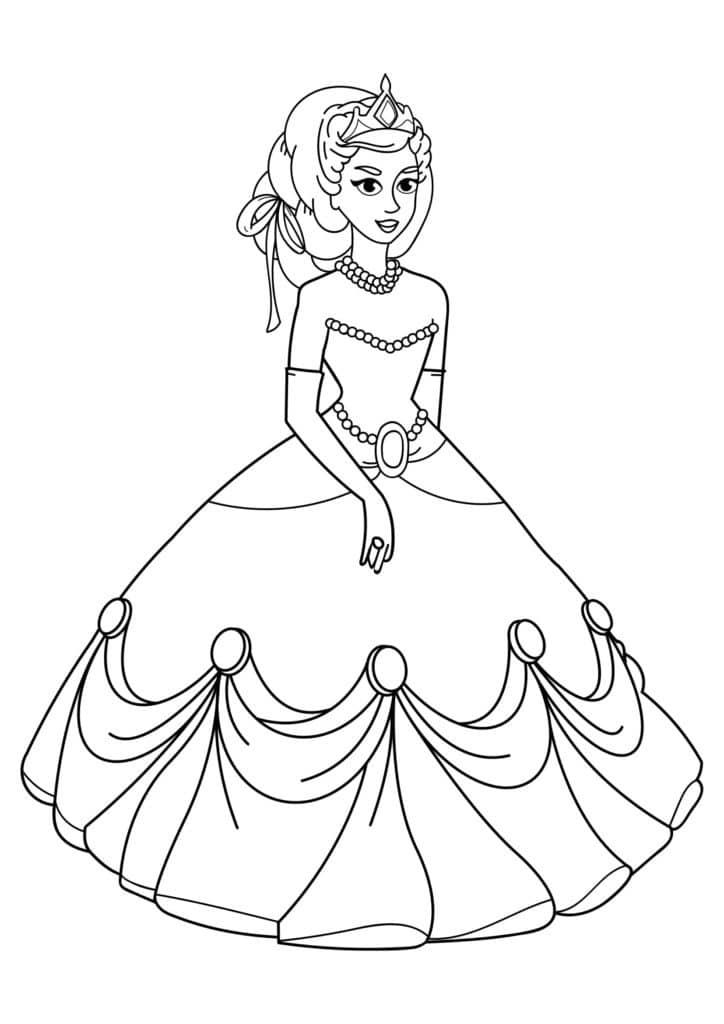 Omaľovánka - Princezná - 6