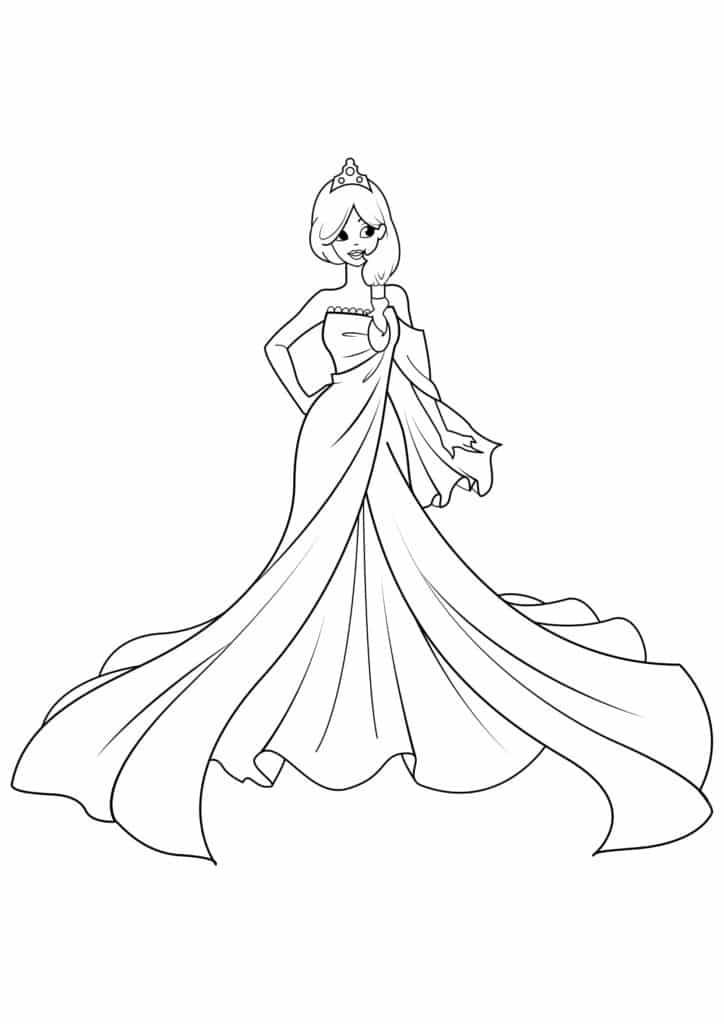 Omaľovánka - Princezná - 7