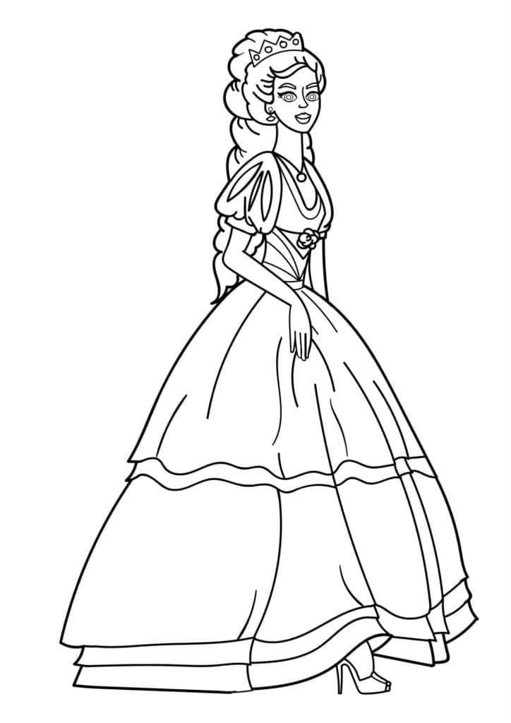 Omaľovánka - Princezná - 8