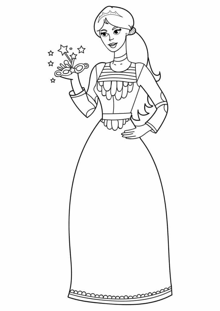 Omaľovánka - Princezná - 9
