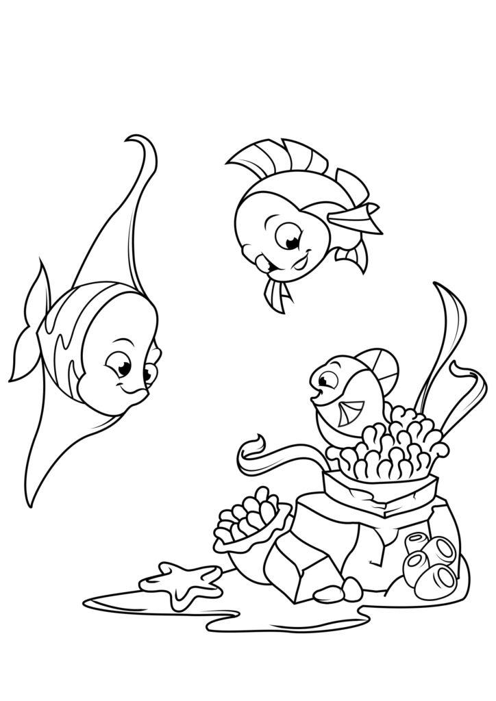 Omaľovánka - Ryby - 10