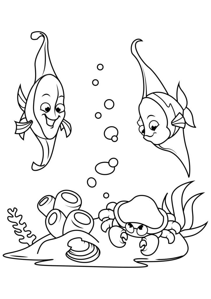 Omaľovánka - Ryby - 19