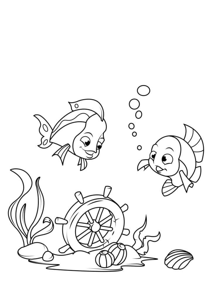 Omaľovánka - Ryby - 3