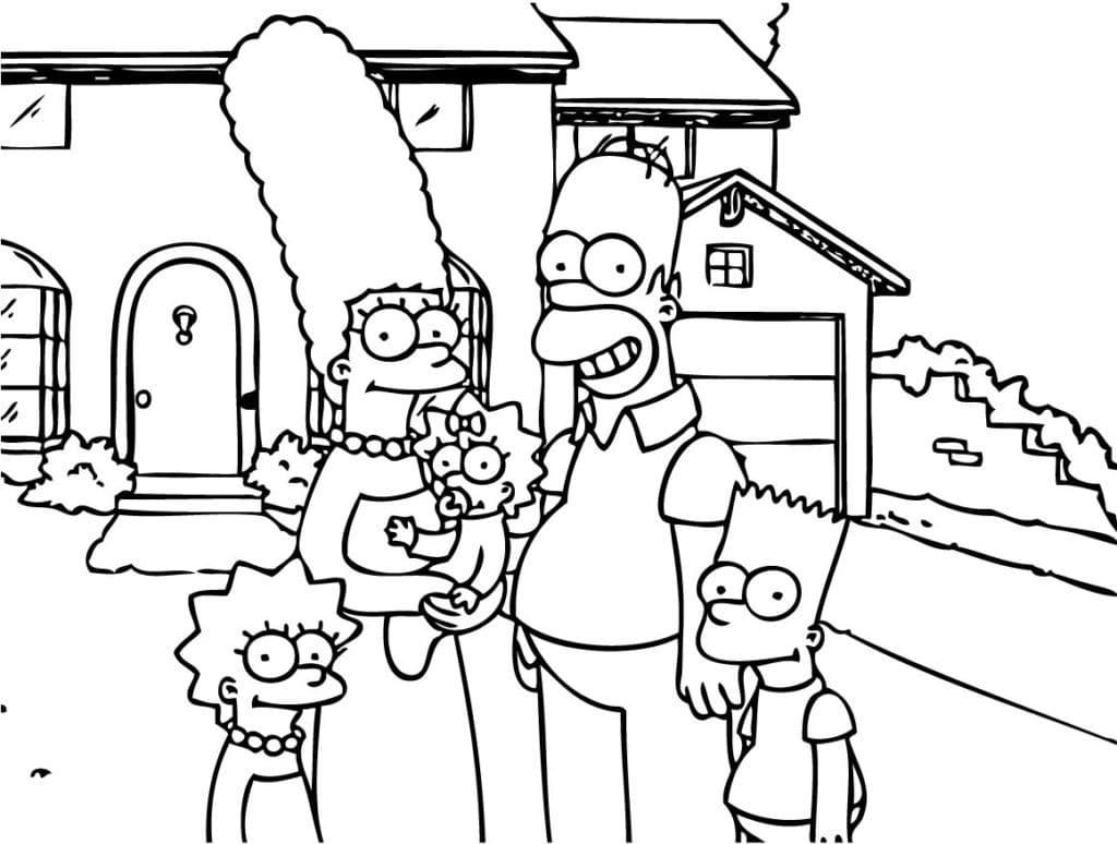 Omaľovánka - Simpsonovci - 2