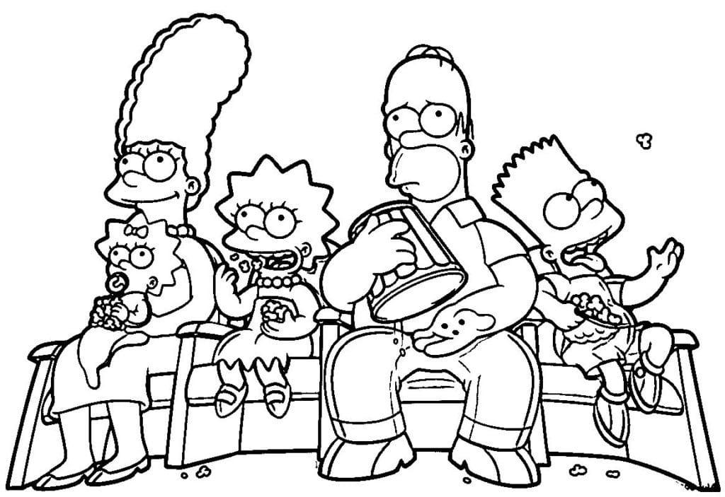 Omaľovánka - Simpsonovci - 1