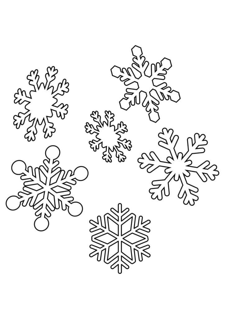 Omaľovánka - Snehové vločky