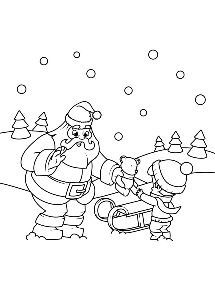 Omaľovánka - Vianoce - 10