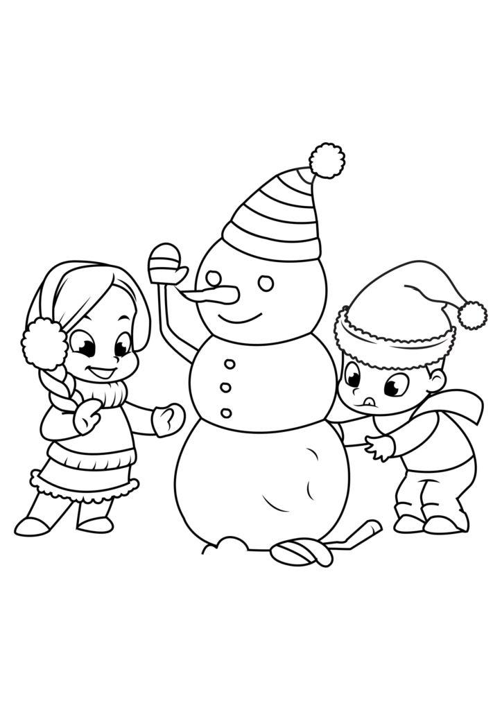 Omaľovánka - Vianoce - 11